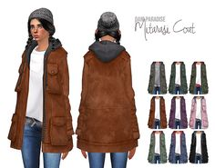 Sims 4 CC's - The Best: TS3 Warm Coat Conversion for Females by DaniParadi...
