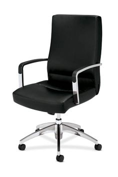 HON Caldo Executive High-Back Chair-Leather upholstery and polished trim combine style with comfort. Item # HON2271SP11P