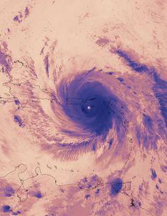 Suomi NPP Satellite Captures Thermal Image of Hurricane Maria