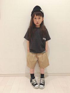 パイル生地のビッグTシャツ♡ チャコールグレーにしました♪ 肌触り凄くいい♡ ハーフワイドパンツは女