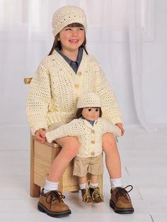 KW - Aran Look Set (Crochet) Patterns - **FREE**