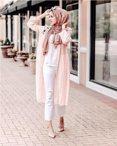 pink neutral blouses hijab outfits – Just Trendy Girls