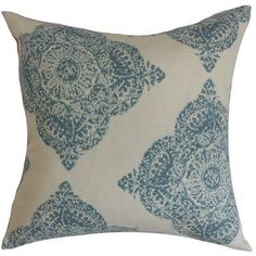 "The Pillow Collection Daganya Damask Cotton Throw Pillow Cover Size: 18"" x 18"", Color: Terracotta"
