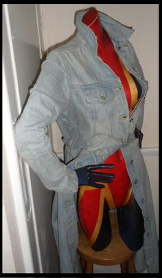 vintage full length denim trench - Google Search