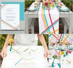 Fashionable Hochzeit Inspiration 2014—Streifen Hochzeit Style im Trend!