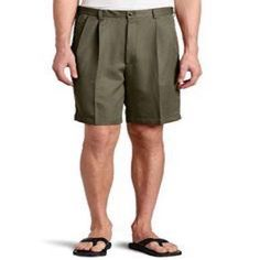 Haggar Shorts Mens Sz 44 W Cool 18 Gab Taupe Pleat Front Expandable Waist New