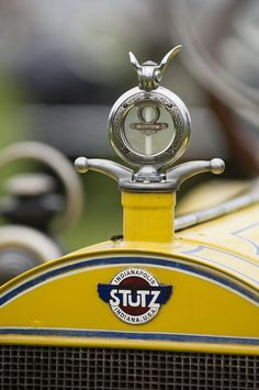 1914 Stutz Series E Bearcat Hood Ornament Photograph by Jill Reger