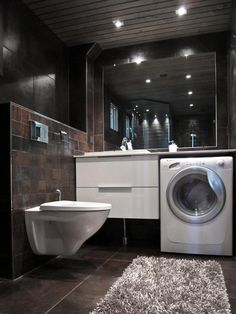 washing machine in bathroom ,Bathroom Laundry Room Combination .déplacer la machine a laver dans la salle de bain?