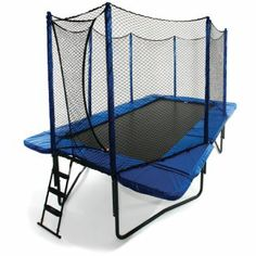10' x 17' Rectangle Trampoline with Safety Enclosure by JumpSport - Trampoline Giant