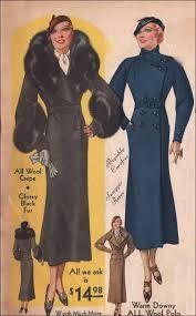 Resultado de imagen para 1930 fashion coat