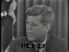 Eleanor Roosevelt interviews Pres. John F. Kennedy in 1961 about starting The Peace Corps (3:36) [Video]