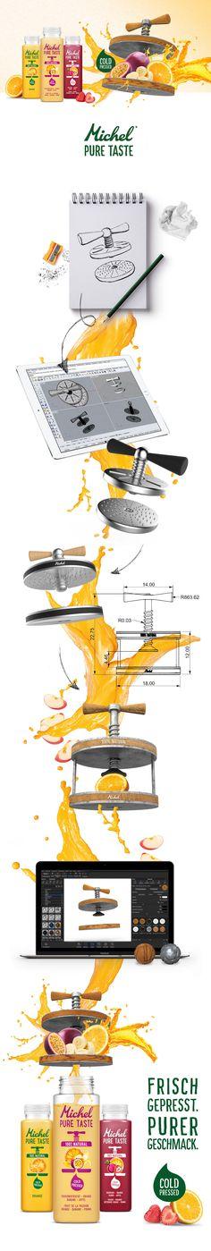 Rivella Michel Pure Taste Key Visual Design.