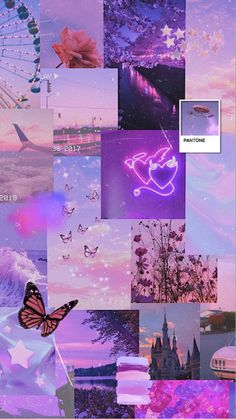 Pink and purple aesthetic wallpaper