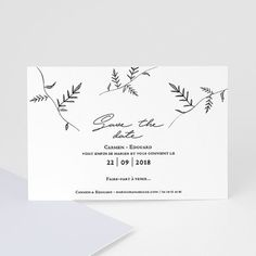"""Pour informer d'avance vos invités sur votre cérémonie de mariage. Cette carte """"save the date"""" sur papier kraft est un avant-goût du faire-part #mariage #savethedate #mariagechampêtre"""