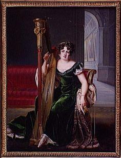 Portrait de Pauline Boyer à la harpe 1819