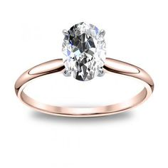 Image result for oval solitaire diamond two tone engagement ring