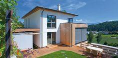 Moderne Fertighäuser mit Holz - Ihr Wohntraum mit einem Fertighaus von Griffner. Fordern Sie jetzt unverbindlich Ihren Traumhaus Katalog an!
