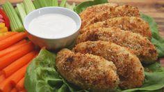 Garlic Parmesan Chicken Tenders Video on Yummly