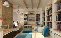 4款带榻榻米地台的小书房装修设计图片 书房兼卧室一举两得