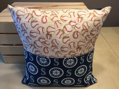 Mariners Baseball Pocket Pillow by thescrappyquilter22 on Etsy