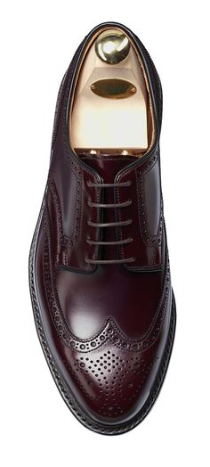 Pembroke Burgundy Calf, Full Brogue Derby | Crockett & Jones