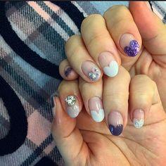 하트프렌치 . #네일브러쉬 #젤네일#젤아트#네일아트#gelart#nails#nail#gelnails#gelnaildesign