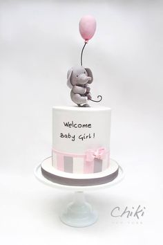 Chiki 2019 Chiki The post Chiki 2019 appeared first on Baby Shower Diy. Baby Cakes, Girly Cakes, Baby Birthday Cakes, Cute Cakes, Elephant Baby Shower Cake, Elephant Cakes, Baby Shower Cakes, Beautiful Cakes, Cake Designs