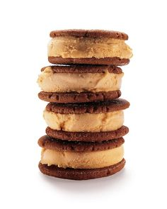 Pumpkin-Gingerbread Ice Cream Sandwiches - Martha Stewart Recipes