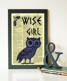 Percy Jackson Mark of Athena wise girl owl dictionary print Percy Jackson and the Olympians  Annabeth Chase tv series wall decor code 160 by demeraki on Etsy