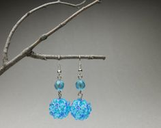 Items similar to Beaded aquatic earrings; azure tropical blue, dangle drop on Etsy Sneak Attack, How To Make Earrings, Czech Glass, Hair Pins, Seed Beads, Crochet Earrings, Unique Gifts, Dangles, Tropical