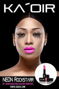69b1884a6d3 kaoir-neon rockstarr-neon pink lipstick is by trina rockstarr. neon  rockstarr was created to bring out the rockstar in every woman