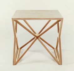 Small Space Frame Table by Gustav Düsing. Would love to see this in solid bamboo.