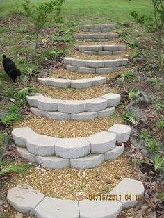 Hillside steps-great idea!