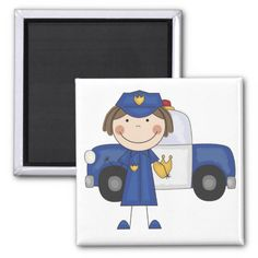 Female Police Officer Tshirts and Gifts Magnet