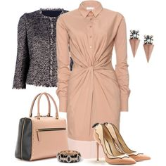 Shirtdress - Polyvore - need a different neckline on the dress.