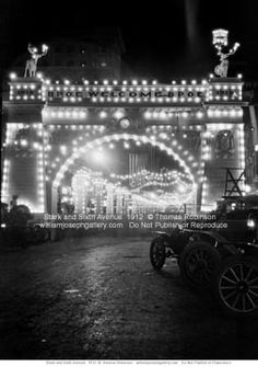 Stark at Sixth Avenue BPOE Convention Lights 1912 Portland Oregon USA