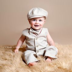 Ring Bearer Outfit Newsboy Set Vintage Style by fourtinycousins