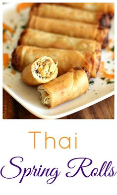 Created by: Emily Buys, Clever Housewife Homemade spring rolls add a little class to any gathering! They're fairly easy to make, and so good that nobody can turn them down. Homemade Spring Rolls, Thai Spring Rolls, Chicken Spring Rolls, Pork Spring Rolls, Fried Spring Rolls, Cheat Meal, Yummy Appetizers, Appetizer Recipes, Thai Appetizer
