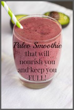 Nutrient-Rich Berry Smoothie - avPaleo Smoothie that will nourish you and keep you FULL! | Rubies & Radishes