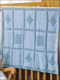 Geometric Baby Blanket- knit