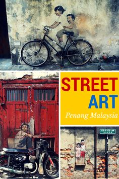 Malaysia Travel Inspiration - Street Art in George Town, Penang, Malaysia including the best recommendations for adventure, restaurants, and bars! Singapore Malaysia, Malaysia Travel, Asia Travel, Philippines, George Town, Travel Images, Travel With Kids, Southeast Asia, Travel Inspiration