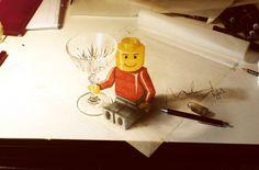 Dibujos hechos a mano con efectos 3D