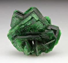 Torbernite is a radioactive, hydrated green copper uranyl phosphate mineral, found in granites & other uranium-bearing deposits as a secondary mineral.