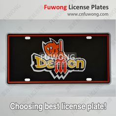 Personalized license plate by American car plate manufacturer