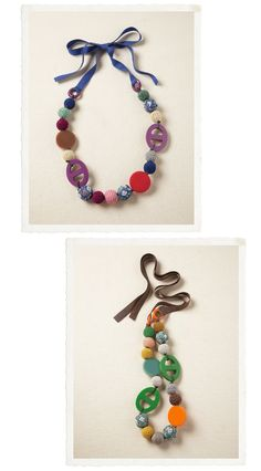 Button necklace for the kids