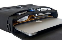 HardCase Laptop Bag - Serious protection - Premium leather - USMade - http://www.sfbags.com/collections/briefcases/products/hardcase-macbook-case