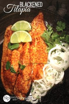 Blackened Tilapia! Quick easy and delicious!