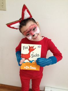 Dr suess dress up Fox in Socks for sophie on dr. Seuss day