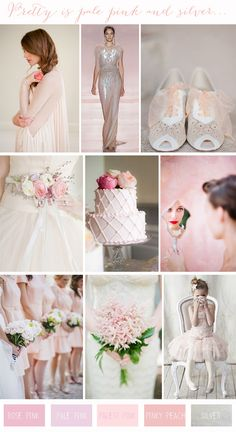 Chic Colour Combinations Pale Pink Silver Wedding Inspiration Want That