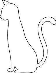 Image result for black cat drawing outline